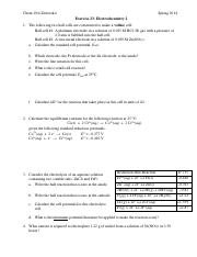 Exercise 23-Electrochemistry 2
