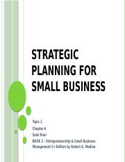 2CHAPTER6-Strategic planning for small business