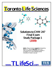 CHM 247 Exam Solutions (2009) ST1