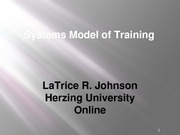 Systems Model of Training
