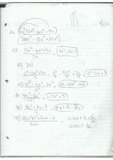 Dividing Trinomials and Binomials
