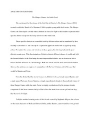 ENG hunger games analysis paper
