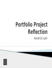 Portfolio Project Reflection.pptm