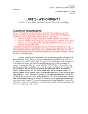 Unit 2 - Assignment 1