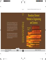 Boundary Element Methods in Engineering and Sciences