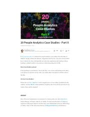 people analytics- case studies 1