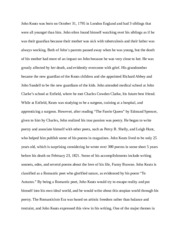 john keats research paper emily mihalkanin mr kelly mrs sonni  2 pages john keats speech