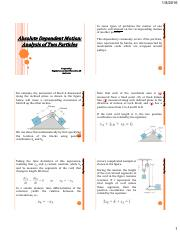 Lecture_Kinematics of Rectilinear Motion_Absolute Dependent Motion.pdf