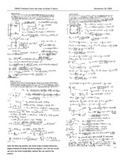 CE441 problems from 2008 on Exam 3