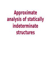 Approximate Analysis of Statically Indeterminate Structures.pptx