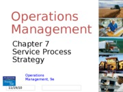 operation management Chapter 7_Service Processes