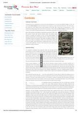 Cambodia travel guides - Cambodia tourism information