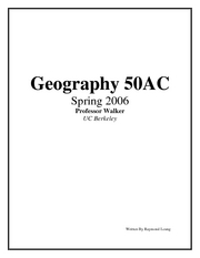 Geography 50AC Notes