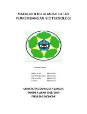 Makalah Ilmu Alamiah Dasar Docx Makalah Ilmu Alamiah Dasar Perkembangan Bioteknologi Disusun Oleh Apriza Husdi Muhammad Iqbal Yosi Auvitta Course Hero
