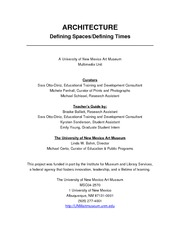 architecture Defining Spaces-Defining Times