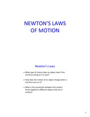 Lecture7 Ch4 NewtonsLaws