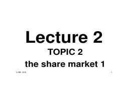 L2P - The Share Market 1