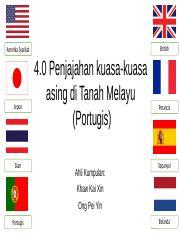 4 0 Penjajahan Kuasa Kuasa Asing Di Tanah Melayu Portugis Pptx British Amerika Syarikat Jepun Siam 4 0 Penjajahan Kuasa Kuasa Asing Di Tanah Course Hero