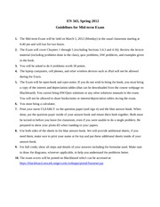 Guidelines for Mid-term Exam