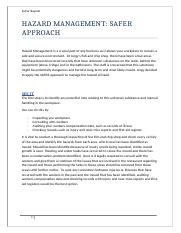 HAZARD MANAGEMENT SAFER APPROACH REPORT.docx