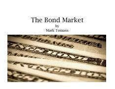 Tomass - 2. The Bond Market - Basics (1)