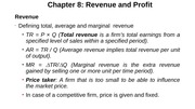Chapter 8-Revenue and Profit