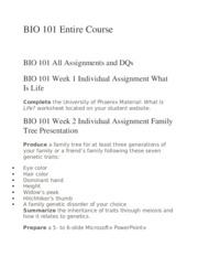 Organism physiology essay