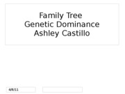 Genetic Dominance Traits