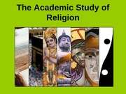 REL 1010-Academic Study of Religion Fall 2013