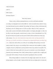 informative speech essay
