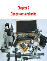 Chapter 1 Dimensions and units