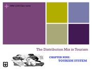 Chapter 9_Distribution mix in Tourism