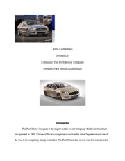 Ford Fusion part 1B