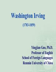 4. Washington Irving