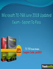 Microsoft 70-768 June 2018 Updated Exam - Secret To Pass.ppt