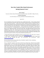 How Does Capital Affect Bank Performance during Financial Crises.pdf