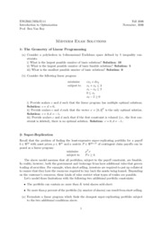 Midterm 2 - Solutions