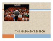 2011 The Persuasive Speech