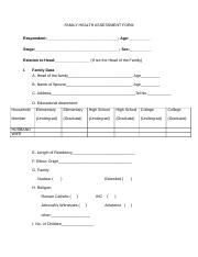 FAMILY HEALTH ASSESSMENT FORM.docx