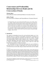 [JoAP] Comovement and Predictability Relationships Between Bonds and the Cross-section of Stocks (Re