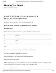 Chapter 43_ Care of the Patient with a Musculoskeletal Disorder _ Nursing Test Banks.pdf