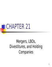 Ch. 21 -13ed Mergers, LBOs, Divestitures.ppt