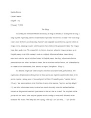 on my first son explication essay rosenberg claire rosenberg  6 pages paper 1 the elegy