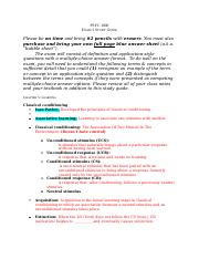 PSYC 1000 Exam 2 Study Guide Fall 2013.docx