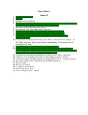 8-28-12, Lecture Outline, What is History.doc