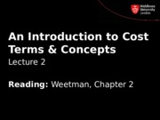 An Introduction to Cost Terms  Concepts