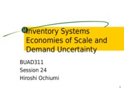 311_session_24_economies_of_scale_and_demand_uncertainty_hiroshi