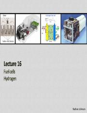 Lecture 16 - Fuel Cells and Hydrogen(1)
