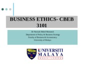 ETHICS IN FINANCE  ACCOUNTING