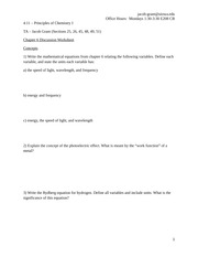 Chapter 6 Discussion Worksheet
